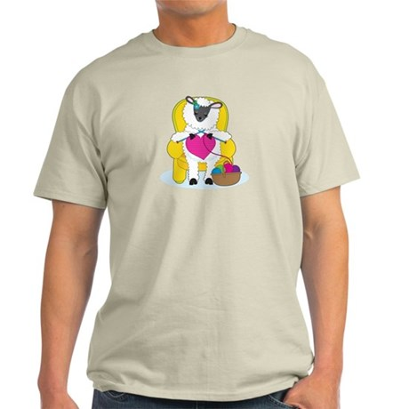 Sheep Knitting Heart Light T-Shirt