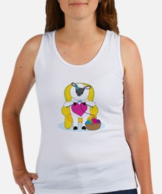 Sheep Knitting Heart Women's Tank Top