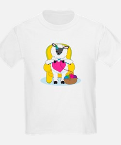 Sheep Knitting Heart T-Shirt