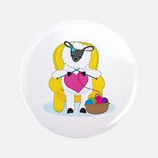 "Sheep Knitting Heart 3.5"" Button"