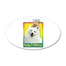 Birthday Cupcake - Eskie 22x14 Oval Wall Peel