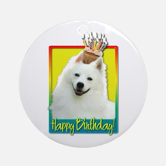Birthday Cupcake - Eskie Ornament (Round)