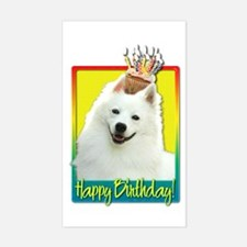 Birthday Cupcake - Eskie Sticker (Rectangle)