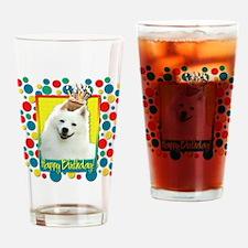 Birthday Cupcake - Eskie Drinking Glass