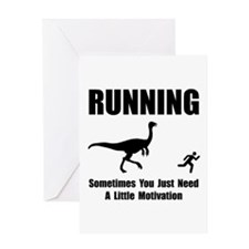 Running Motivation Greeting Card