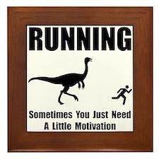 Running Motivation Framed Tile
