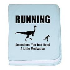 Running Motivation baby blanket