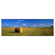 Hay Bales South Dakota Poster