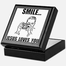 Smile Jesus Loves You Keepsake Box