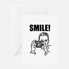 Vintage Camera Smile Greeting Card