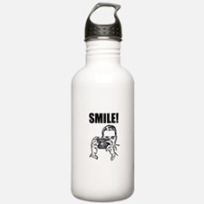 Vintage Camera Smile Water Bottle