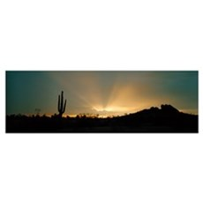 Desert Sun Beams near Phoenix AZ Canvas Art