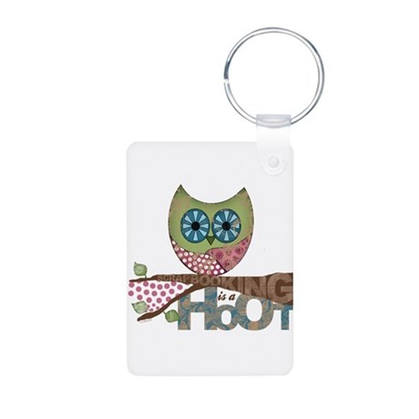 Scrapbooking is a Hoot Aluminum Keychain