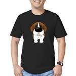 Big Nose St. Bernard Men's Fitted T-Shirt (dark)