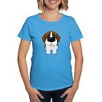 Big Nose St. Bernard Women's Dark T-Shirt