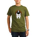 Big Nose St. Bernard Organic Men's T-Shirt (dark)