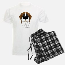 Big Nose St. Bernard pajamas