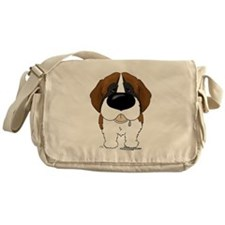 Big Nose St. Bernard Messenger Bag