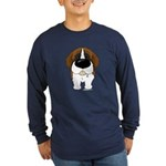 Big Nose St. Bernard Long Sleeve Dark T-Shirt