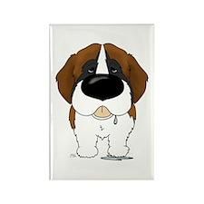Big Nose St. Bernard Rectangle Magnet (100 pack)