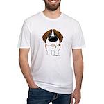 Big Nose St. Bernard Fitted T-Shirt