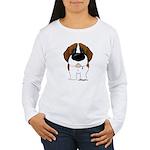 Big Nose St. Bernard Women's Long Sleeve T-Shirt