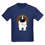 Big Nose St. Bernard Kids Dark T-Shirt