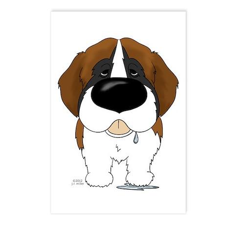 Big Nose St. Bernard Postcards (Package of 8)