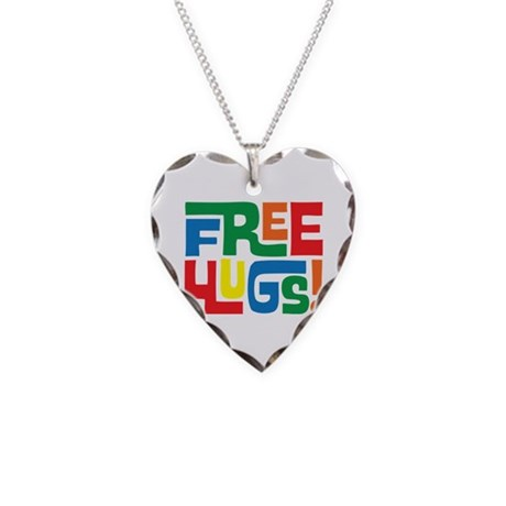 FREE Hugs!! Necklace Heart Charm