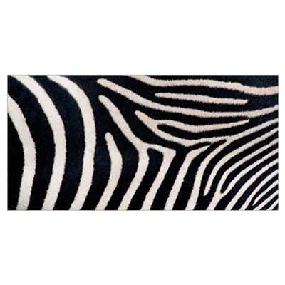 Close-up of Greveys zebra stripes Poster