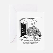 Black Hole Filled With Tools Greeting Card