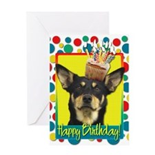 Birthday Cupcake - Kelpie Greeting Card