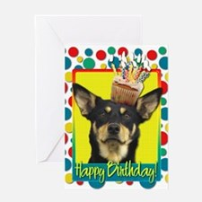 Birthday Cupcake - Kelpie Greeting Card