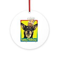 Birthday Cupcake - Kelpie Ornament (Round)