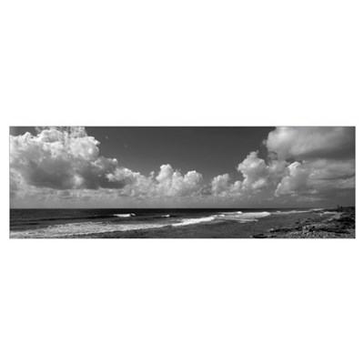 Grand Cayman, Cayman Islands, Empty beach on the i Poster