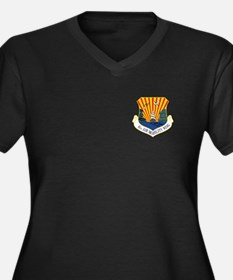 6th Air Mobility Wing Women's Plus Size V-Neck Dar