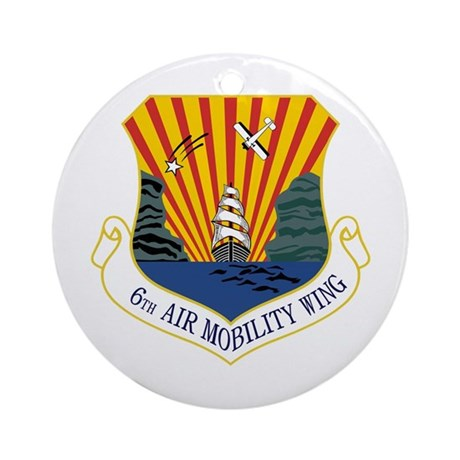 6th Air Mobility Wing Ornament (Round)