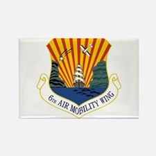 6th Air Mobility Wing Rectangle Magnet