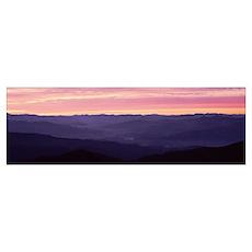 Receeding Mts of Blue Ridge Sunrise Great Smoky Mt Poster