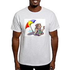 hAwAiiAn ShAvE IcE Ash Grey T-Shirt