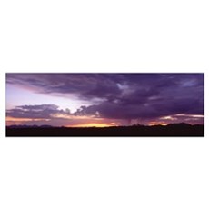 Sunset Thunderstorm w/Lightning Phoenix AZ Canvas Art