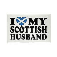 I Love My Scottish Husband Rectangle Magnet