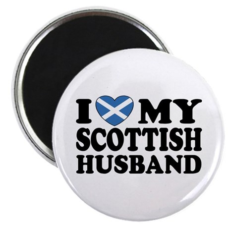 I Love My Scottish Husband Magnet