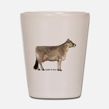 Brown Swiss Cow Shot Glass