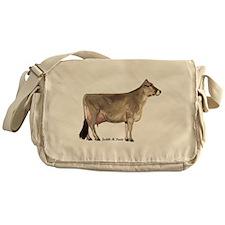 Brown Swiss Cow Messenger Bag