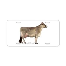 Brown Swiss Cow Aluminum License Plate