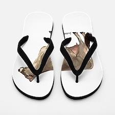 Brown Swiss Cow Flip Flops