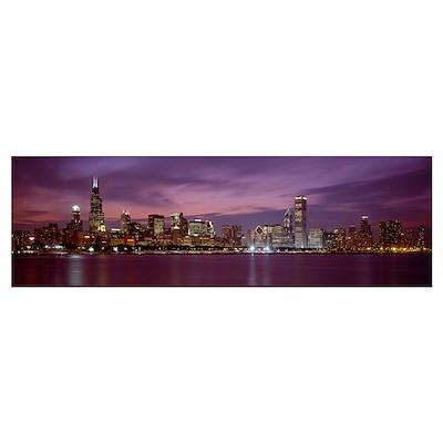 Skyline Chicago IL Poster