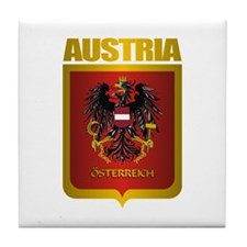 """Austria Gold"" Tile Coaster"