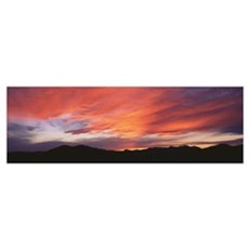 Sunset over Black Hills National Forest Custer Par Poster